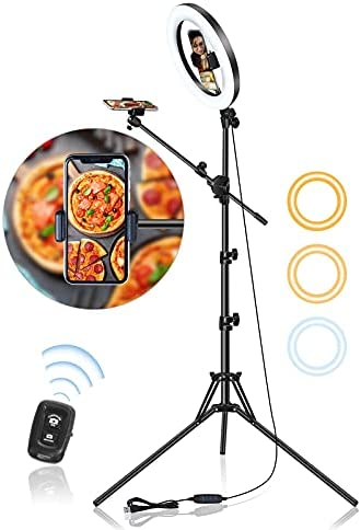 10.5″ Selfie Ring Light with Stand and...
