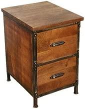 AA Warehousing Lafayette 2-drawer Wood & Metal File Cabinet in Medium Brown Finish