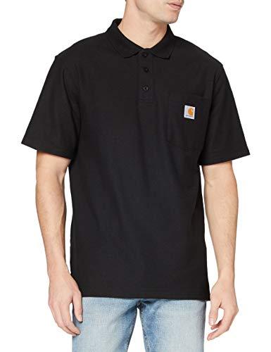 Carhartt Herren Contractor'S Work Pocket Polo Shirt, Black, L