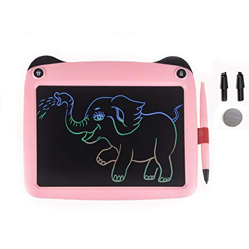 mom&myaboys Upgraded Colorful Screen 9 Inch LCD Writing Tablets,Doodling Drawing Board- Best Gifts Toys for Kids/Adults Noting Stylus(Pink-pa)
