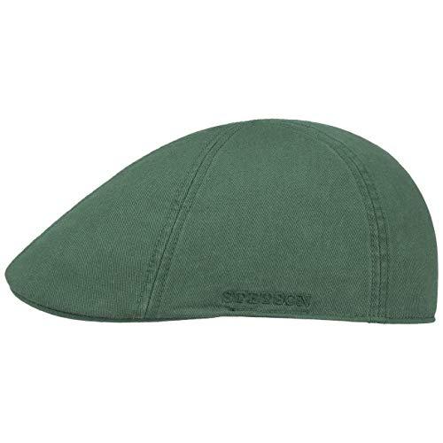 Stetson Gorra Texas con Protección UV Hombre - Gorro Ivy de algodón Sol Visera Primavera/Verano - M (56-57 cm) Verde