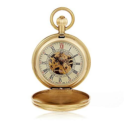Yangxuelian-AC Reloj de Bolsillo Reloj mecánico de Locomotora Europea Cobre Cobre Latón...