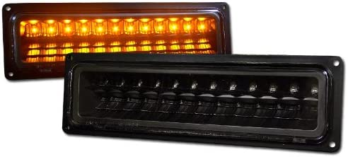 Max 56% OFF Blk Clear Lens Led Signal Bumper Lights C Lamps Very popular! K Chevy C10 Gmc