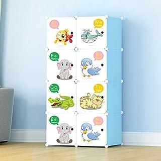 e19e18a595 Keshav International Kid's Wardrobe Cabinet 8 Door Storage Organizer  Almirah Rack Shelf for Clothes Living Room