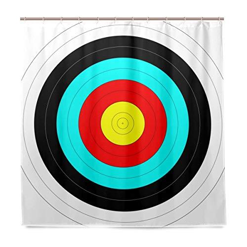 N\A Cuarto de baño Ecológico Tiro con Arco Objetivo Cortina de Ducha de poliéster Impermeable Decoración para el hogar