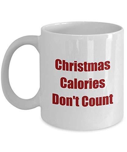 Christmas Calories Don't Count - Classic Coffee Mug, White 11oz