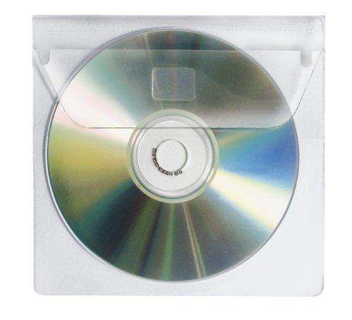 Veloflex 2259000 CD-Hüllen CD-Boxen CD-Etui zum Einkleben für 1 CD, CD-Umschläge, selbstklebend, 10er Packung