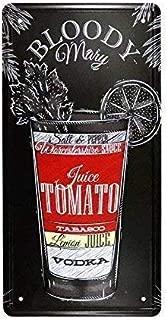 12x16 inch Bloody Mary License Plate Vintage Cocktail bar Club Pub Wall Decor bar Art Painting