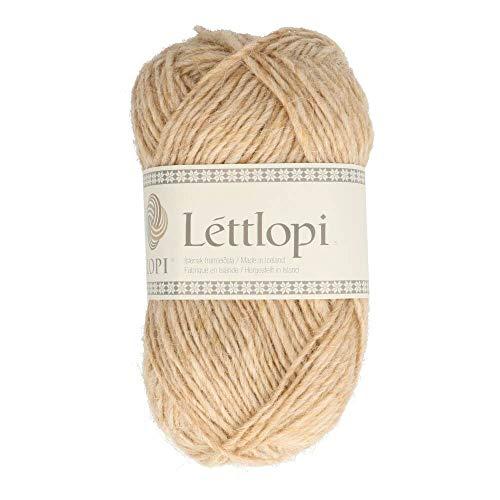 theofeel Lettlopi Wolle 1418 Stroh, Islandwolle zum Stricken von Islandpullovern, Norwegermuster