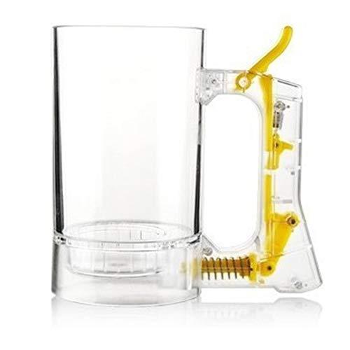Libertroy Tasse de bière moussante à Bulles créative Tasse de mousseur à bière Tasse à bière pétillante/Tasse à bière dégageant de la Mousse pour la Barre de fête - Clair