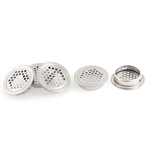 DyniLao, 5 uds, Ventilación de aire de acero inoxidable, redondo, circular, para sofito, rejilla de ventilación con orificio, rejilla de 42mm para cocina, baño, armario