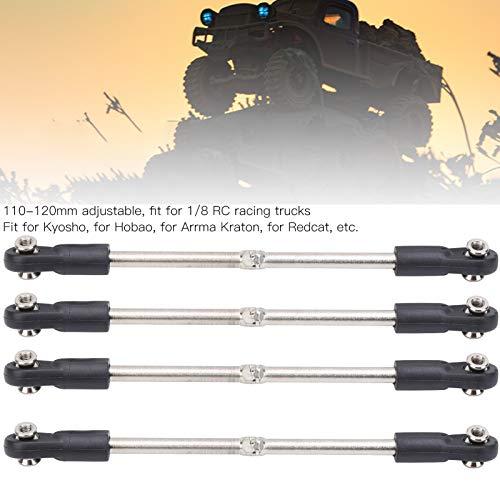 Alomejor M4 Lenkstangensatz Verstellbare Verbindungsstange 110-120 mm Passend für 1/8 RC-Car