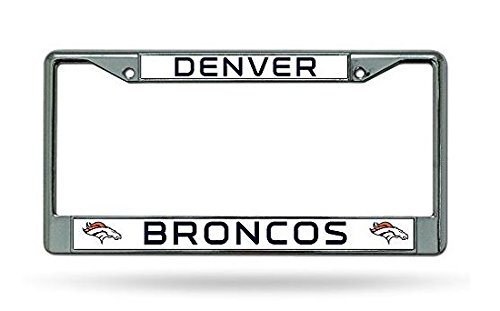 Rico Industries NFL Denver Broncos Standard Chrome License Plate Frame , 6 x 12.25'