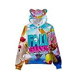 Fall Guys Ultimate Knockout - Sudadera con capucha para niño y niña, con impresión digital en 3D A6. 150 cm