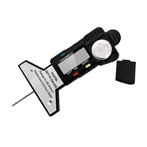 Digital profundidad del neumático calibrador del neumático medidor de profundidad 0-25.4mm portátil Profundidad de rodadura del inspector con pantalla LCD de Coches Furgonetas Camiones