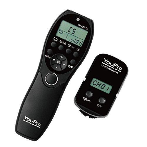 YouPro YP-870/DC2 Wireless Shutter Timer Remote for Nikon DSLR D7100, D7000, D5200,D5100,...