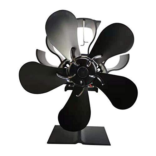 Kuangqianwei Houten kachel 5-blaadjes vuur haard fan thermodynamische houtkachel ventilator voor hout/houtkachel warmteverdeling onderdelen accessoires open haard