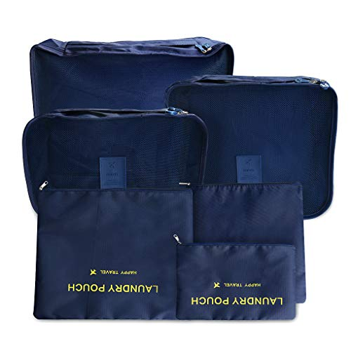 Yihaifu 6pcs/Set Storage Bag with Laundry with laundry pouches Pouches Portable Clothes Luggage Organizer Container Case