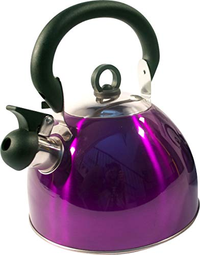 Kabalo 3L Purple Stainless Steel Whistling Kettle Stove Top Hob Kitchenware Tea Coffee Camping
