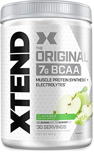 XTEND Original BCAA Powder Smash Apple | Branched Chain Amino Acids Supplement | 7g BCAAs + Muscle Protein Synthesis Electrolytes for Recovery & Hydration | 30 Servings