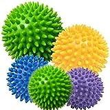 fine-toned 5x Spiky Massage Balls 10cm, 8cm x 2, 6cm x 2 plus