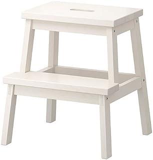 comprar comparacion Ikea Tritthocker in weiß aus Massivholz Bekväm-Taburete de Madera Maciza, Color Blanco, 50 cm