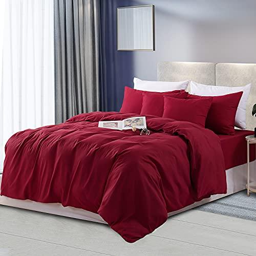 RUIKASI Juego de funda nórdica para cama de matrimonio, funda nórdica de 260 x 240 cm + 2 fundas...