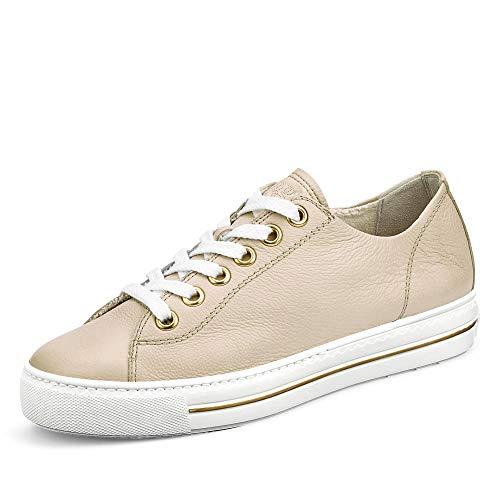 Paul Green 4704 Damen Sneaker aus Glattleder Laufsohle mit 30-mm-Plateu beige, Groesse 41 1/2, beige