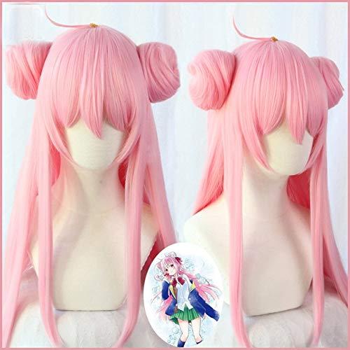 happy sugar life Matsuzaka Satou pelucas de cosplay 80 cm de largo cabello sinttico resistente al calor recto para mujeres nias peluca de anime rosaMatsuzaka Satou