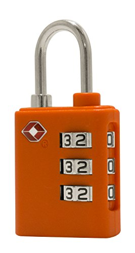 HAUPTSTADTKOFFER – Vorhängeschloss 3-stellig I TSA Zahlenschloss I TSA Schloss I Kofferschloss I Gepäckschloss I Kombinationsschloss I Farbe: Orange