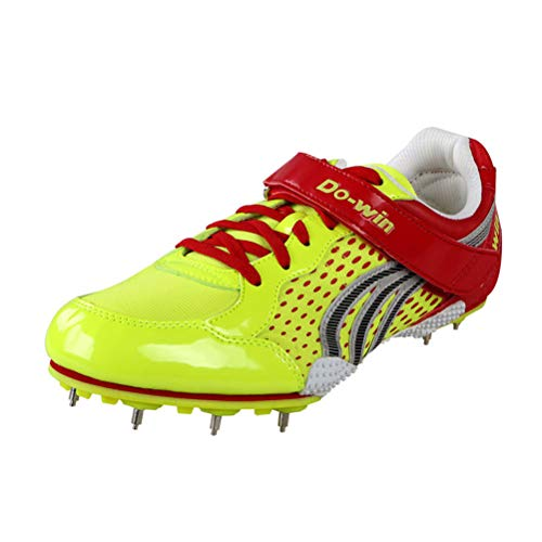 FJJLOVE Leichtathletikschuh, Profi Unisex Leichtathletik Cross Country Sprint-Nagel-Schuh Sport Hochsprung Weitsprung Trainings Spikes Sneaker,36