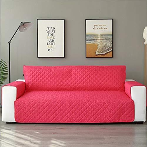 CHLIGHT Funda Protectora de sofá,Fundas de sofá para Mascotas, para laFunda del sofá de la Sala de Estar, Alfombrilla Lavable extraíble Antideslizante paraSilla, Protector de Muebles-Rose_3seat