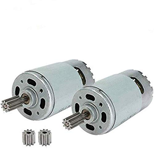 JIARUIXIN 2 Pcs Universal 550 40000RPM Electric Motor RS550 12V Motor Drive Engine Accessory for RC Car Children Ride on Toys Replacement Parts