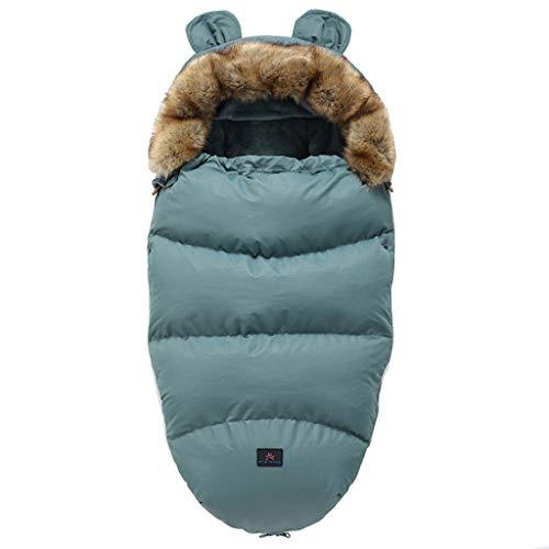 CCIIO Saco de Dormir para Cochecito de bebé Saco de Dormir cálido de Invierno Bata Saco para bebé recién Nacido