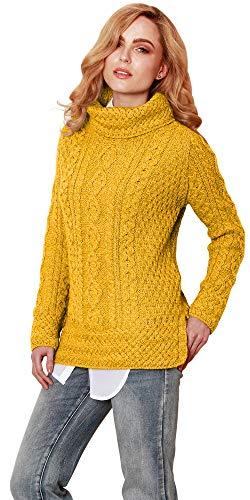 Carraig Donn dames 100% Merino wol geventileerde Roll Neck Jumper trui