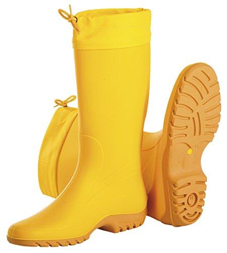 Giallo PVC-Damen-Stiefel Gr. 40, Gummistiefel, gelb