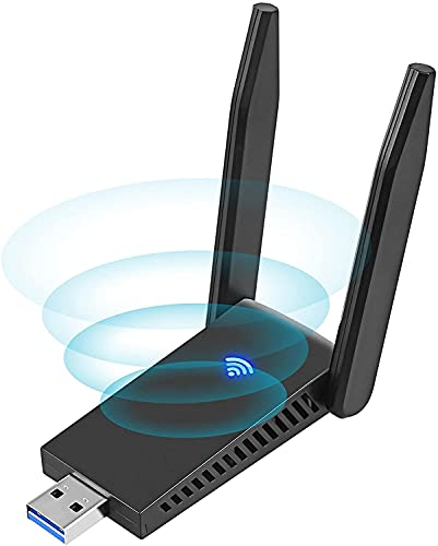 Dual Band USB 3.0 Wireless USB Adapter,WLAN Stick WLAN Adapter PC 1300Mbps WiFi Dongle 2.4GHz/5GHz Netzwerk Empfänger,5dBi Antenna Wireless Network Adapter für Desktop,Laptop WinXP/7/8/10/vista/Linux