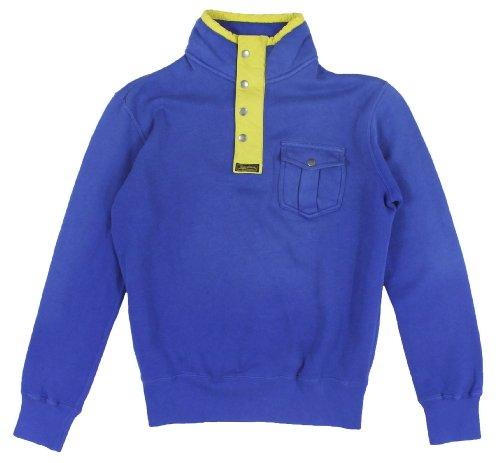 Polo Ralph Lauren Men's Long Sleeve Fleece Mockneck Sweater (Medium, Sapphire)