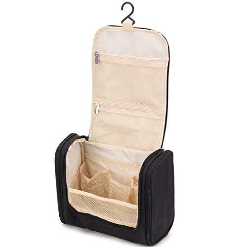 Beauty case portatile da viaggio, borsa da viaggio, borsa da viaggio, gancio flessibile con chiusura a clip in metallo, per cosmetici, toilette