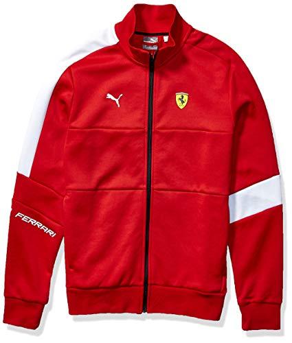 PUMA Mens Scuderia Ferrari T7 Track Jacket, Large, Rosso Corsa