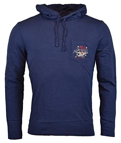 Polo Ralph Lauren Men's Long Sleeve Graphic Jersey Hoodie - XL - Navy