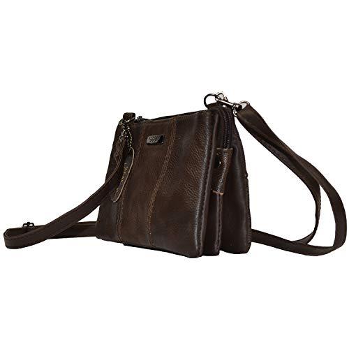The Leather Emporium - Sac Femme Porté Epaule Cuir Souple Petite Taille Par Lorenz 7 Couleurs 3762 - Non présente, Marron