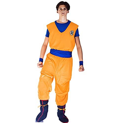 Heldig Men's Dragon Ball Master Roshi Practice Cosplay Monkey King Costume (Color : Orange, Size : X-Large)
