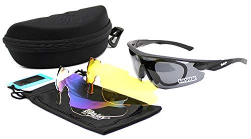 Ventura Trading New Daisy C8 gepolariseerde zonnebril, militair tactisch leger, legerbril, outdoor-veiligheidsbrillen, 3 lenzen, zonnebril voor vissen, klimmen, jagen en wandelen