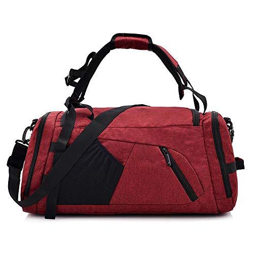 Molletons de Sport Sac à Dos Multifonctions Gym Sports Sac Duffel Voyage Sacs de Sport Grand Format (Color : Red, Size : One Size)
