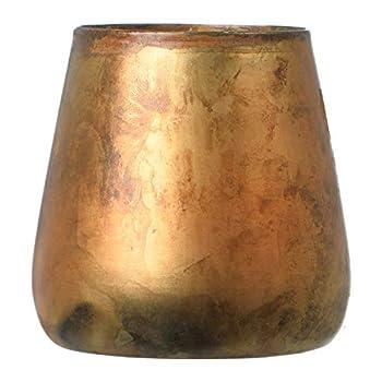 Creative Co-Op Antique Brass Pillar Candle Holder