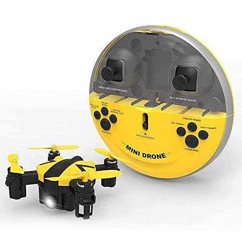 Mini drone con alta manutenzione e modalità senza testa Quadricottero RC con vibrazione 3D e rotazione ad alta velocità per luce colorata Ritorno a un pulsante per droni tascabili portatili per bamb