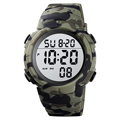Reloj Digital Deportivo para Hombre, Pantalla LED, Reloj Militar de Cara Grande y Resistente al Agua, Casual, Luminoso, cronómetro, Alarma, Simple Reloj Militar