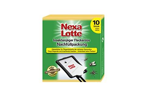 Nexa Lotte Insektenjäger Fleckenlos Nachfüllpackung, 2x 5 Klebeblätter, 3606