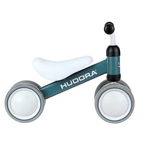 HUDORA Laufrad Mini, blau | Laufrad ab 1 Jahr | 4 Räder | Lauflernrad Kinderlaufrad